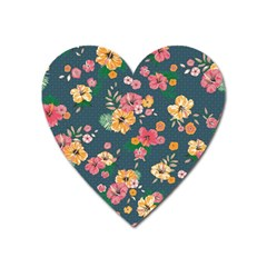 Aloha Hawaii Flower Floral Sexy Heart Magnet by Mariart