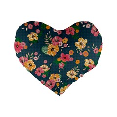 Aloha Hawaii Flower Floral Sexy Standard 16  Premium Flano Heart Shape Cushions by Mariart