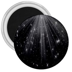 Black Rays Light Stars Space 3  Magnets by Mariart