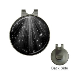 Black Rays Light Stars Space Hat Clips With Golf Markers by Mariart