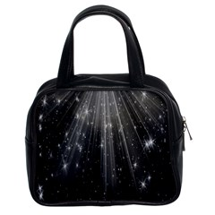 Black Rays Light Stars Space Classic Handbags (2 Sides) by Mariart