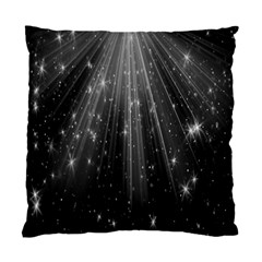 Black Rays Light Stars Space Standard Cushion Case (two Sides) by Mariart