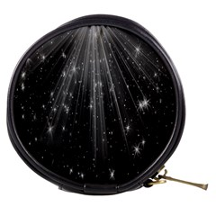 Black Rays Light Stars Space Mini Makeup Bags by Mariart