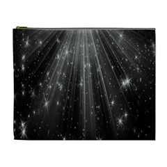 Black Rays Light Stars Space Cosmetic Bag (xl) by Mariart
