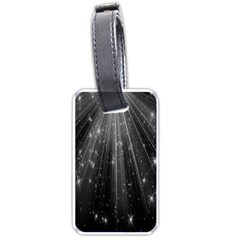 Black Rays Light Stars Space Luggage Tags (one Side)  by Mariart