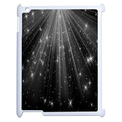 Black Rays Light Stars Space Apple Ipad 2 Case (white) by Mariart