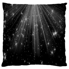 Black Rays Light Stars Space Large Cushion Case (two Sides) by Mariart