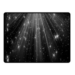 Black Rays Light Stars Space Double Sided Fleece Blanket (small)  by Mariart