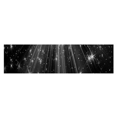 Black Rays Light Stars Space Satin Scarf (oblong) by Mariart