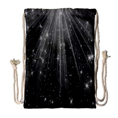 Black Rays Light Stars Space Drawstring Bag (large) by Mariart