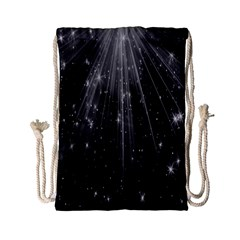 Black Rays Light Stars Space Drawstring Bag (small) by Mariart