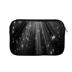 Black Rays Light Stars Space Apple Macbook Pro 13  Zipper Case by Mariart