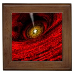 Black Red Space Hole Framed Tiles by Mariart
