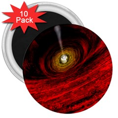 Black Red Space Hole 3  Magnets (10 Pack)  by Mariart