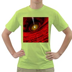 Black Red Space Hole Green T-shirt by Mariart