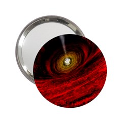 Black Red Space Hole 2 25  Handbag Mirrors