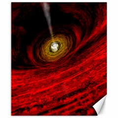 Black Red Space Hole Canvas 8  X 10  by Mariart