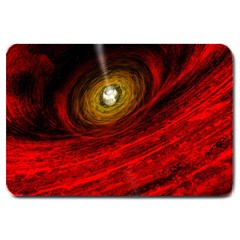 Black Red Space Hole Large Doormat