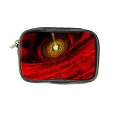 Black Red Space Hole Coin Purse by Mariart