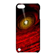 Black Red Space Hole Apple Ipod Touch 5 Hardshell Case With Stand by Mariart