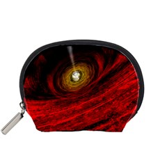 Black Red Space Hole Accessory Pouches (small)