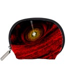 Black Red Space Hole Accessory Pouches (Small)  Front