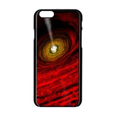 Black Red Space Hole Apple Iphone 6/6s Black Enamel Case by Mariart