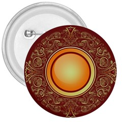 Badge Gilding Sun Red Oriental 3  Buttons