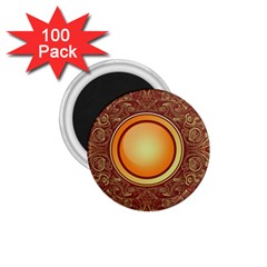 Badge Gilding Sun Red Oriental 1 75  Magnets (100 Pack)
