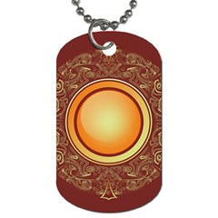 Badge Gilding Sun Red Oriental Dog Tag (one Side)