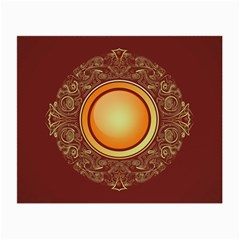 Badge Gilding Sun Red Oriental Small Glasses Cloth