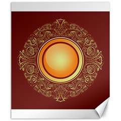 Badge Gilding Sun Red Oriental Canvas 20  X 24