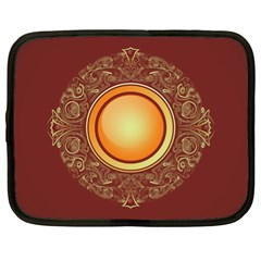 Badge Gilding Sun Red Oriental Netbook Case (xl)  by Nexatart