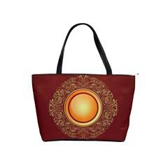 Badge Gilding Sun Red Oriental Shoulder Handbags by Nexatart
