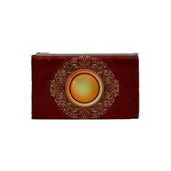Badge Gilding Sun Red Oriental Cosmetic Bag (small)  by Nexatart