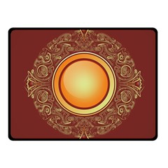 Badge Gilding Sun Red Oriental Fleece Blanket (small)