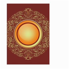 Badge Gilding Sun Red Oriental Large Garden Flag (two Sides) by Nexatart