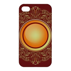 Badge Gilding Sun Red Oriental Apple Iphone 4/4s Premium Hardshell Case by Nexatart