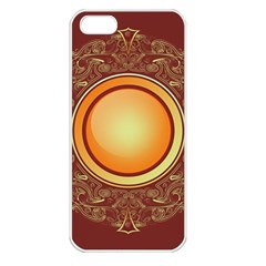 Badge Gilding Sun Red Oriental Apple Iphone 5 Seamless Case (white)