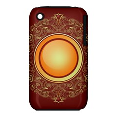 Badge Gilding Sun Red Oriental Iphone 3s/3gs by Nexatart