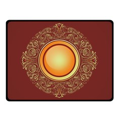 Badge Gilding Sun Red Oriental Double Sided Fleece Blanket (small)  by Nexatart