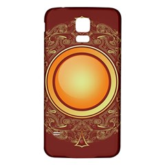 Badge Gilding Sun Red Oriental Samsung Galaxy S5 Back Case (white) by Nexatart