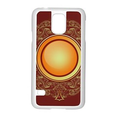 Badge Gilding Sun Red Oriental Samsung Galaxy S5 Case (white) by Nexatart