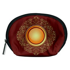 Badge Gilding Sun Red Oriental Accessory Pouches (medium)  by Nexatart