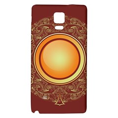 Badge Gilding Sun Red Oriental Galaxy Note 4 Back Case by Nexatart