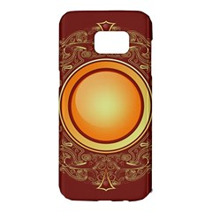 Badge Gilding Sun Red Oriental Samsung Galaxy S7 Edge Hardshell Case by Nexatart