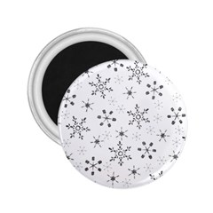Black Holiday Snowflakes 2 25  Magnets by Mariart
