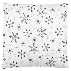 Black Holiday Snowflakes Large Cushion Case (one Side) by Mariart