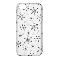 Black Holiday Snowflakes Apple Iphone 5c Hardshell Case by Mariart
