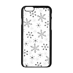 Black Holiday Snowflakes Apple Iphone 6/6s Black Enamel Case by Mariart